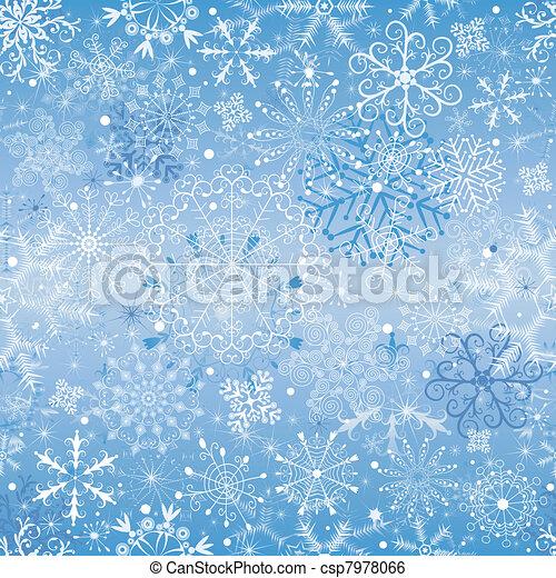 Christmas snowfall (seamless) - csp7978066