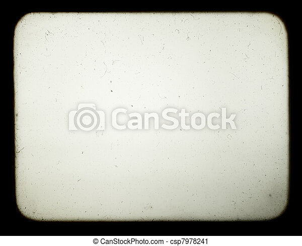 Snapshot of a blank screen of old slide projector, suited to achieve the effect of old photos. - csp7978241