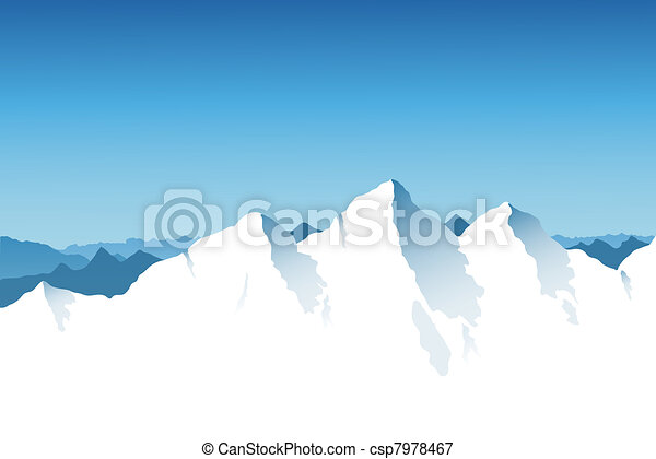 Mountain Range Background - csp7978467