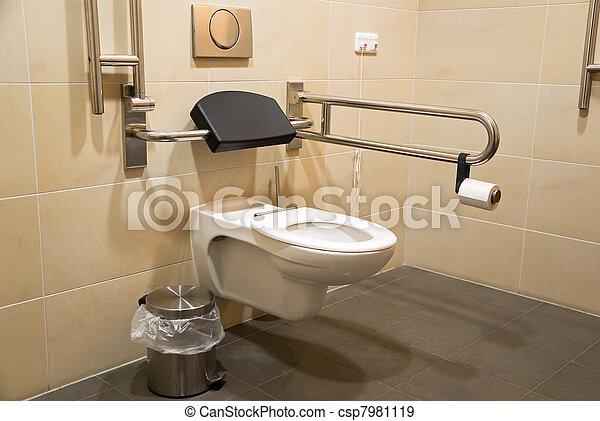 banque de photographies de toilette handicap gens toilettes toilette csp7981119. Black Bedroom Furniture Sets. Home Design Ideas