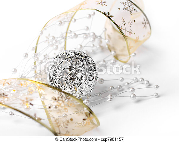 White Christmas decoration - csp7981157
