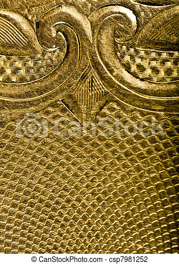 Highly detailed background in gold - csp7981252