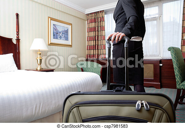 Woman in Hotel Room - csp7981583