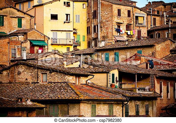 histórico, arquitetura,  Siena - csp7982380