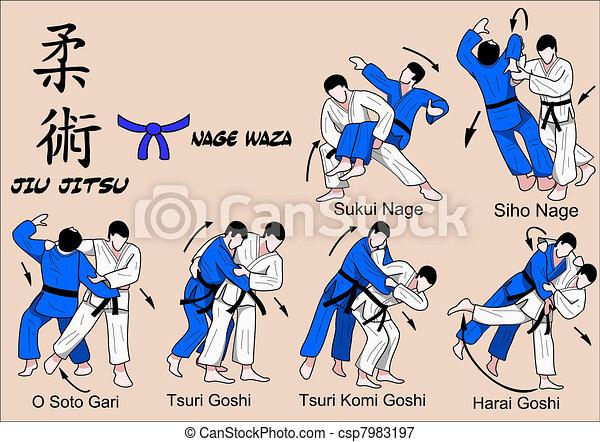 Jiu Jitsu Nage Waza 4 Color - csp7983197