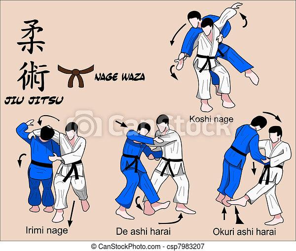 Jiu Jitsu Nage Waza 5 Color - csp7983207