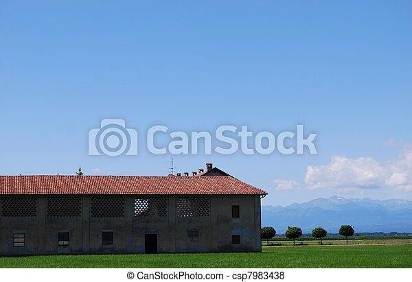 Farm and flat farmland - csp7983438