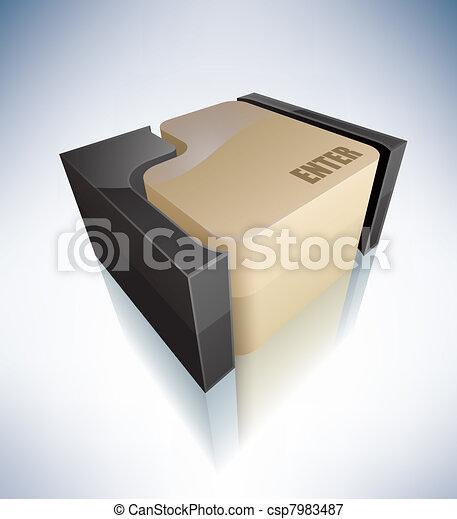 3D Sign: Enter - csp7983487