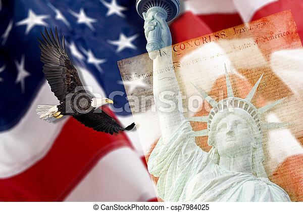 statue, Stadt,  york, Freiheit, neu - csp7984025