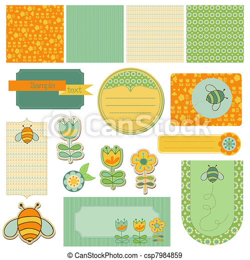 Baby Scrap with Bee - csp7984859