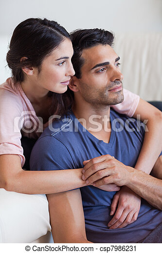 Portrait of a young couple posing - csp7986231