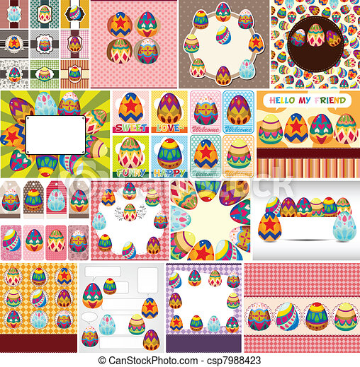 easter egg card - csp7988423