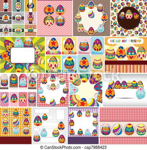 easter egg card  - csp7988423