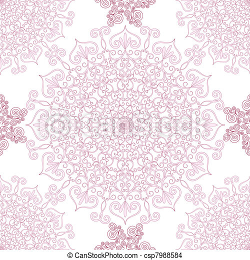 Vintage seamless pattern - csp7988584