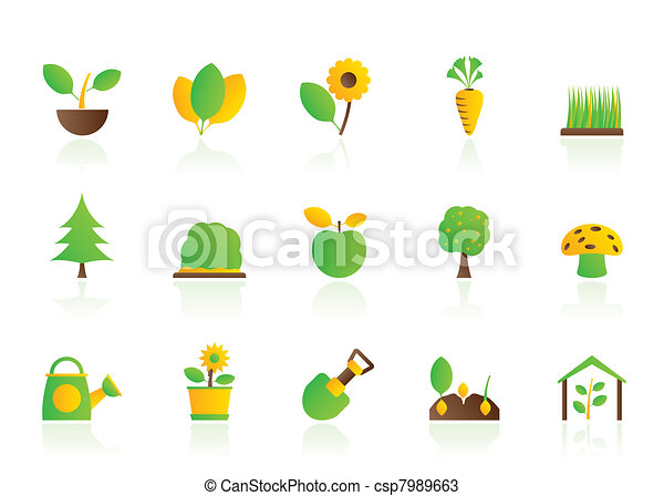 Different Plants and gardening Icon - csp7989663