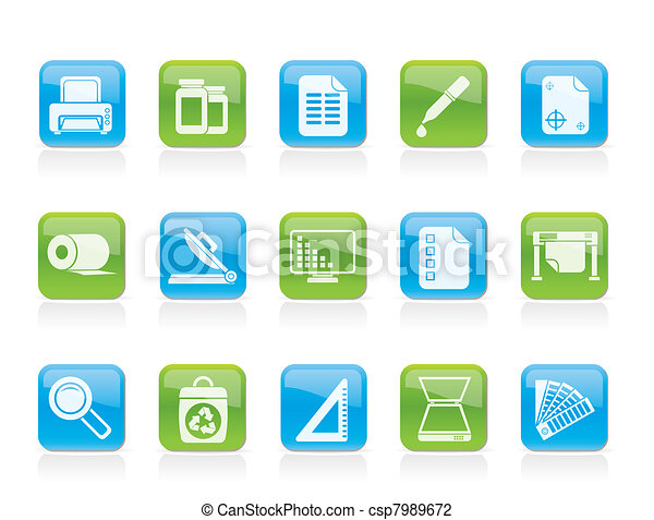 Commercial print icons  - csp7989672