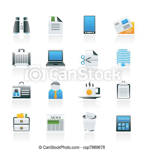 Vector de empresa negocio oficina elementos iconos for Elementos para oficina