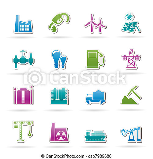 Business and industry icons  - csp7989686