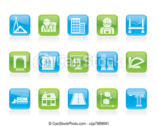 architecture and construction icons - csp7989691