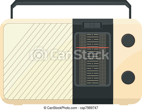 Vector illustration of a portable radio - csp7989747