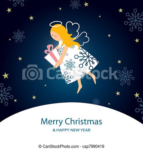 little christmas angle - csp7990419