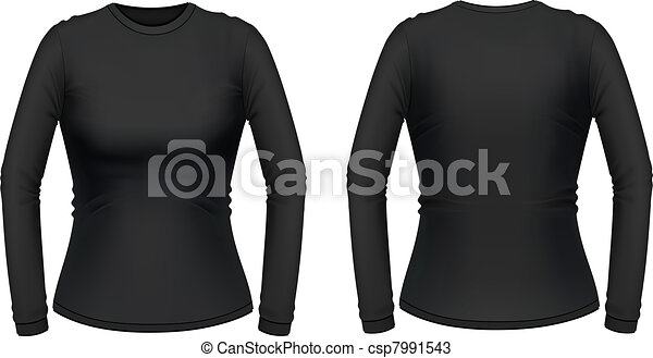 Black long sleeve female shirt - csp7991543
