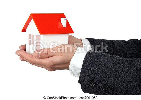 vrai, propriété, ou, assurance, concept - csp7991989