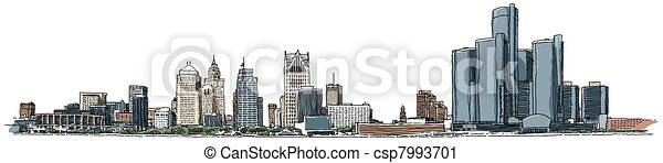 Detroit Waterfront - csp7993701