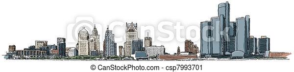 Detroit Waterfront - csp7993701