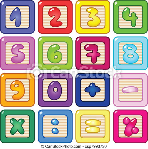 Number blocks - csp7993730