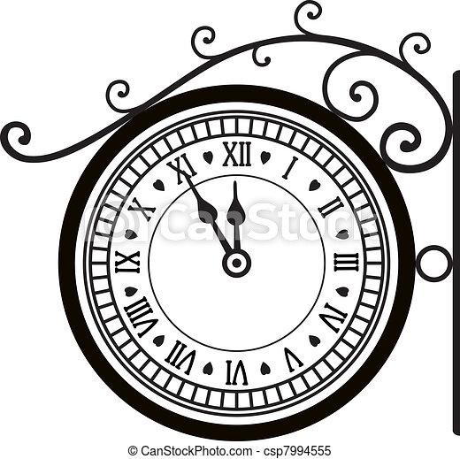 retro street clock - csp7994555