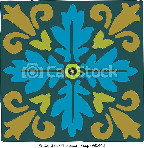 Arabic motif ornament - csp7995448