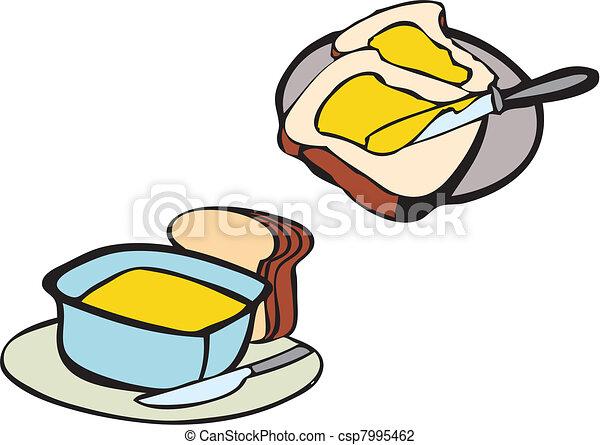 bread butter breakfast - csp7995462