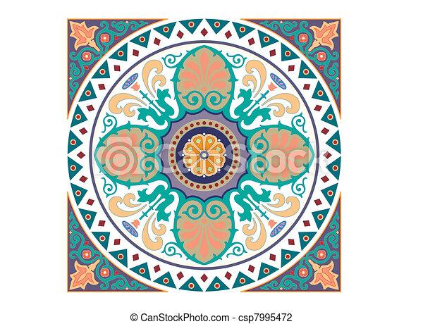 Detailed Arabic motif ornament - csp7995472