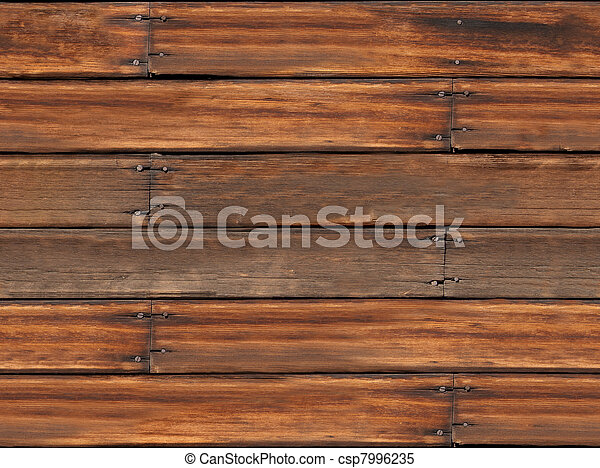 Seamless Old Wood Plank Background - csp7996235