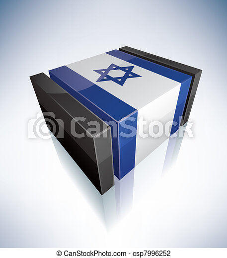 3D flag of Israel - csp7996252