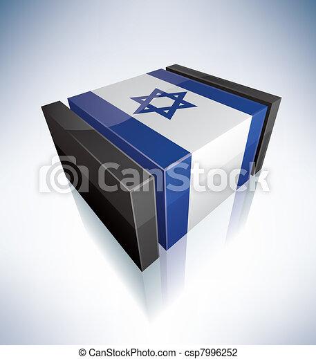 3D flag of Israel - csp7996252