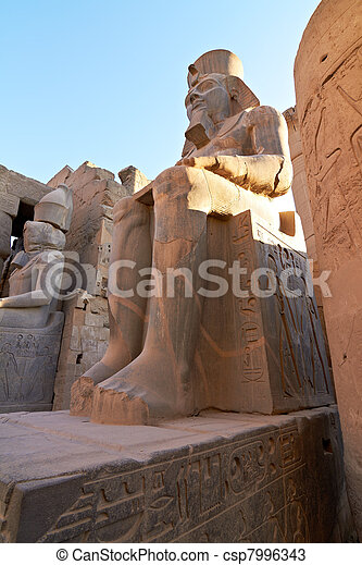 Statue of Ramses II in Luxor Temple - csp7996343