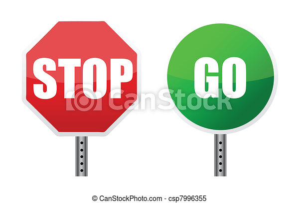 stop go sign illustrations - csp7996355