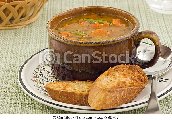Hearty vegetable soup - csp7996767