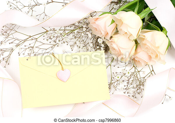 Flower and letter