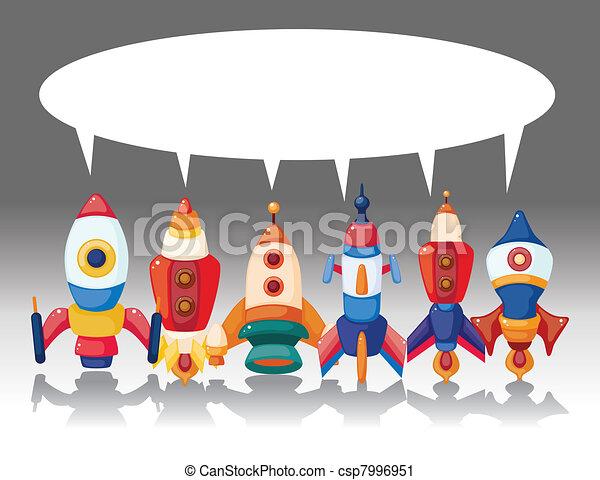 cartoon spaceship card - csp7996951