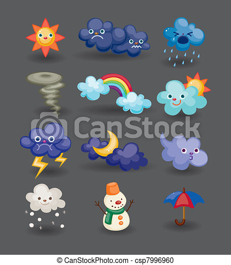 cartoon weather icon - csp7996960