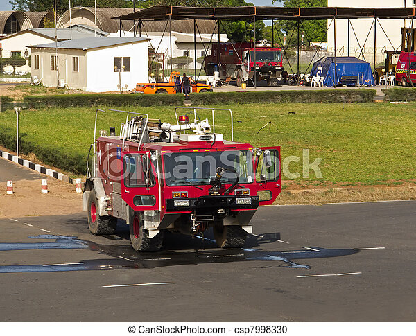 Fire Truck at Banjul Airport - csp7998330