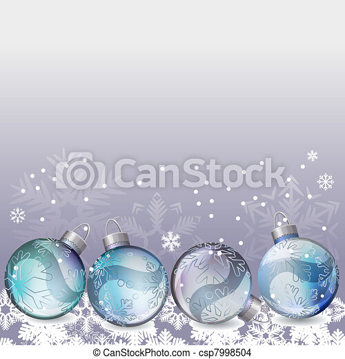 Eps vektor von weihnachten hintergrund mit glas kugeln for Glas mit kugeln dekorieren
