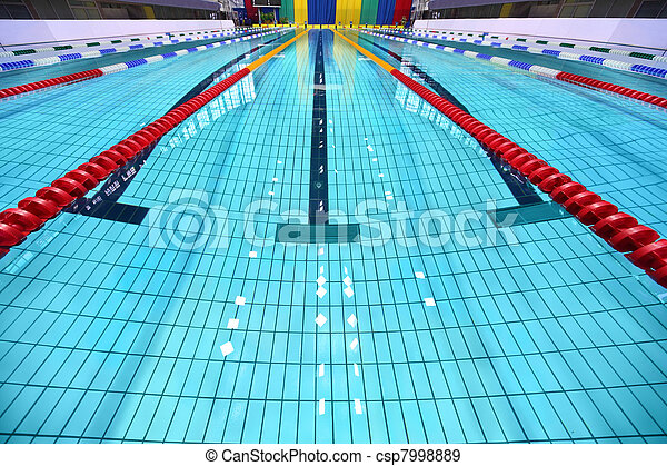 Lane of swimming pool are limited zones - csp7998889
