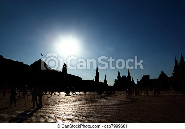 Kremlin Red Square in Moscow, Russian Federation. Tourist Destination - csp7999601