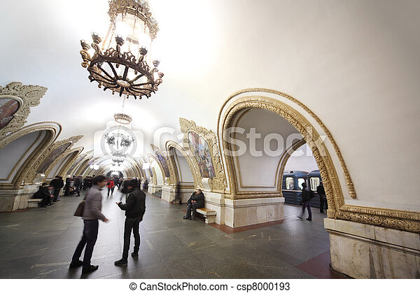 MOSCOW - FEBRUARY 2: national architecture monument - metro station
