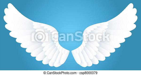 White wings. - csp8000379