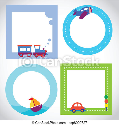 card templates with toy transportation - csp8000727